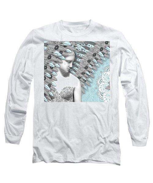 Angelica Hiberna - Angel Of Winter Long Sleeve T-Shirt by Christopher Beikmann