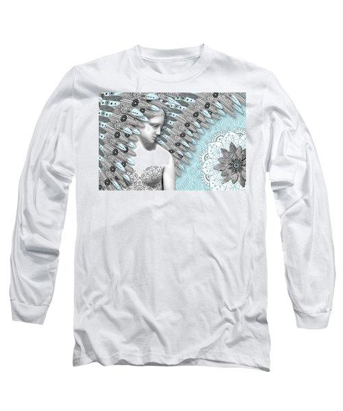 Angelica Hiberna - Angel Of Winter Long Sleeve T-Shirt