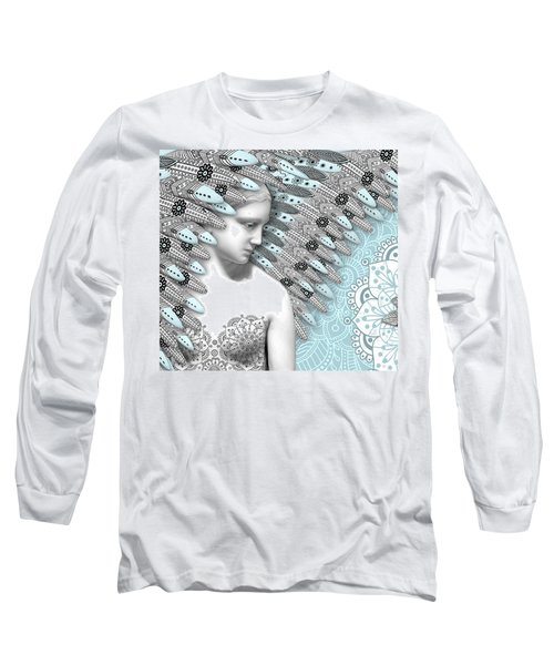 Angelica Hiberna - Angel Of Winter Long Sleeve T-Shirt