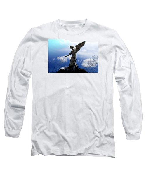 Angel's Love Long Sleeve T-Shirt by Milena Ilieva