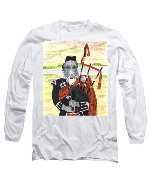 Angus The Piper Long Sleeve T-Shirt
