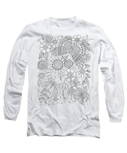 Animal Butterflies Long Sleeve T-Shirt
