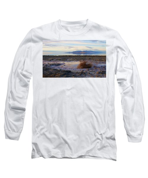 Long Sleeve T-Shirt featuring the photograph Antelope Island - Tumble Weed by Ely Arsha