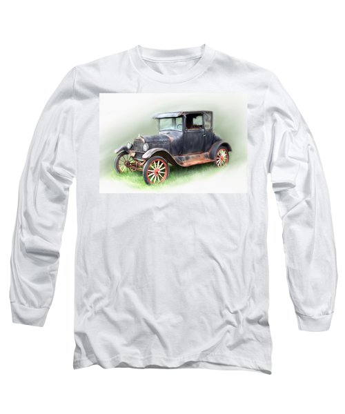 Long Sleeve T-Shirt featuring the painting Antique Car by Bonnie Willis
