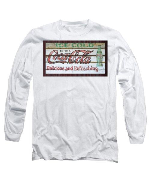 Antique Coca Cola Sign  Long Sleeve T-Shirt