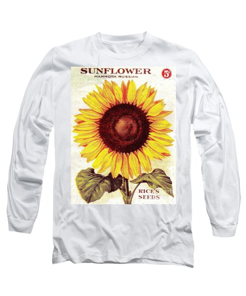 Antique Sunflower Seeds Pack Long Sleeve T-Shirt