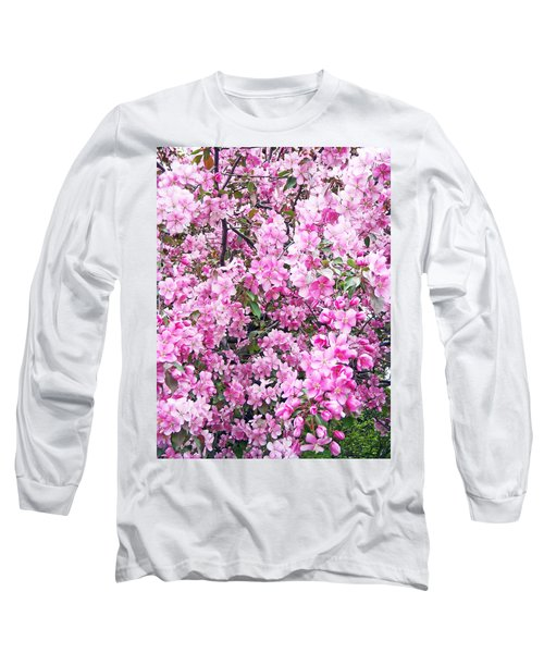 Apple Blossoms Long Sleeve T-Shirt by Aimee L Maher Photography and Art Visit ALMGallerydotcom