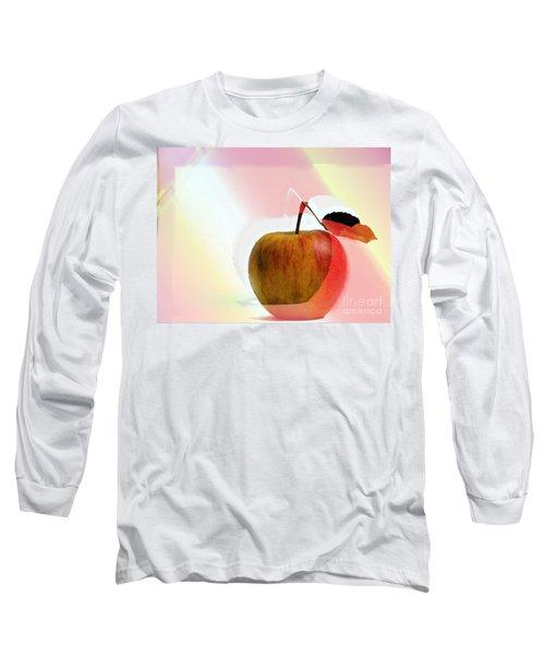Long Sleeve T-Shirt featuring the photograph Apple Peel by Luc Van de Steeg
