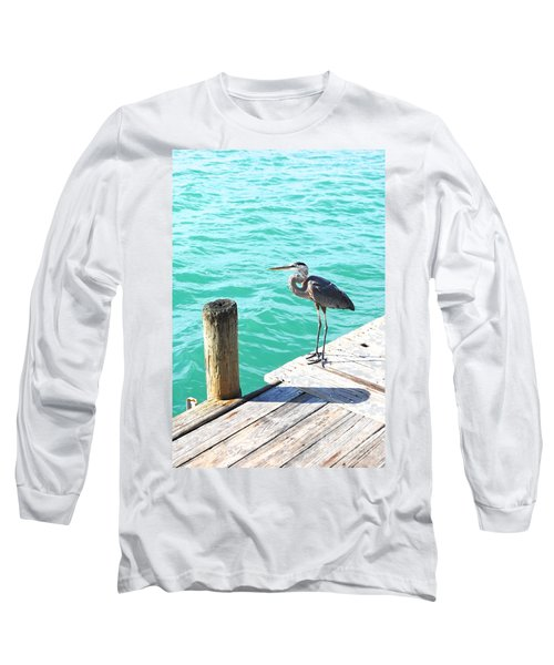 Aqua Serenity Long Sleeve T-Shirt by Margie Amberge