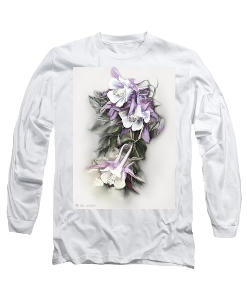 Aqualigia Cascade Long Sleeve T-Shirt by Bonnie Willis