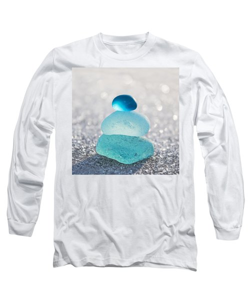 Aquamarine Ice Light Long Sleeve T-Shirt