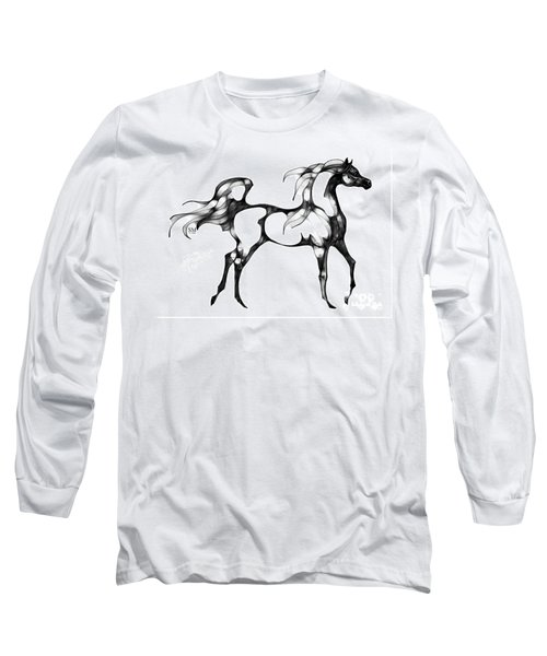 Arabian Horse Overlook Long Sleeve T-Shirt by Stacey Mayer