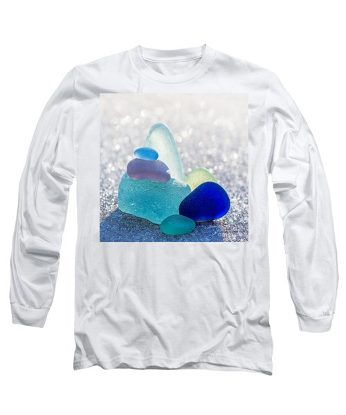 Arctic Peaks Long Sleeve T-Shirt by Barbara McMahon