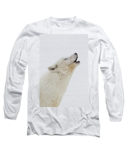 Arctic Wolf Howling Long Sleeve T-Shirt