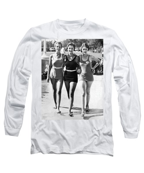 Army Bathing Suit Trio Long Sleeve T-Shirt by Underwood Archives