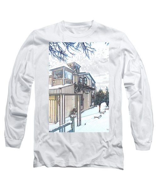 Arp Clockhouse Across From Mamasitas In Bennet Nebraska Long Sleeve T-Shirt by PainterArtist FIN