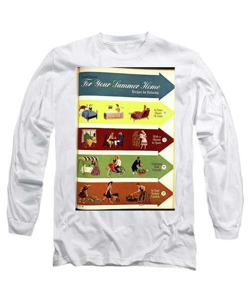 Arrows And Illustrations Long Sleeve T-Shirt