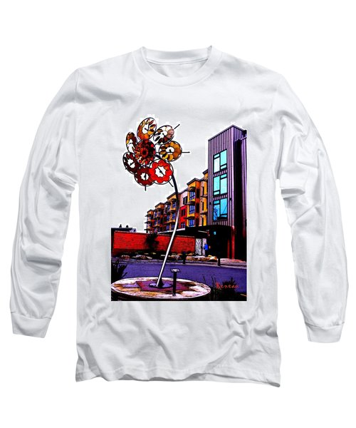 Long Sleeve T-Shirt featuring the photograph Art On The Ave by Sadie Reneau