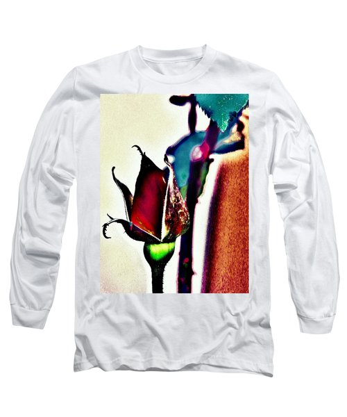 Long Sleeve T-Shirt featuring the photograph Artful Bud by Faith Williams