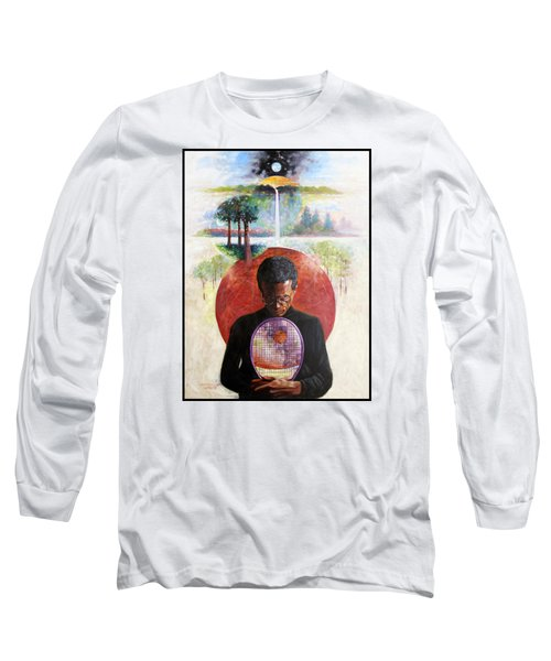 Arthur Ashe Long Sleeve T-Shirt by John Lautermilch