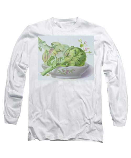 Artichokes Long Sleeve T-Shirt by Lizzie Riches