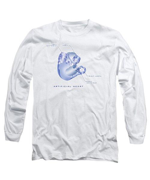 Artificial Heart Long Sleeve T-Shirt by James Christopher Hill