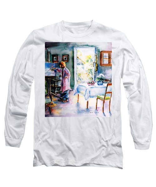 Artist At Work In Summer  Long Sleeve T-Shirt by Trudi Doyle
