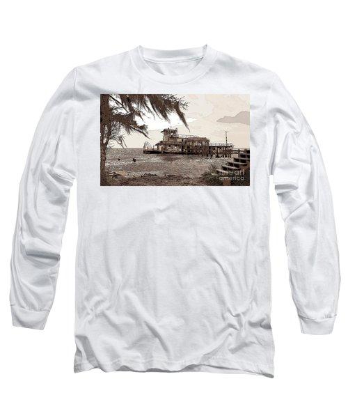 Long Sleeve T-Shirt featuring the photograph Tugboat From Louisiana Katrina by Luana K Perez