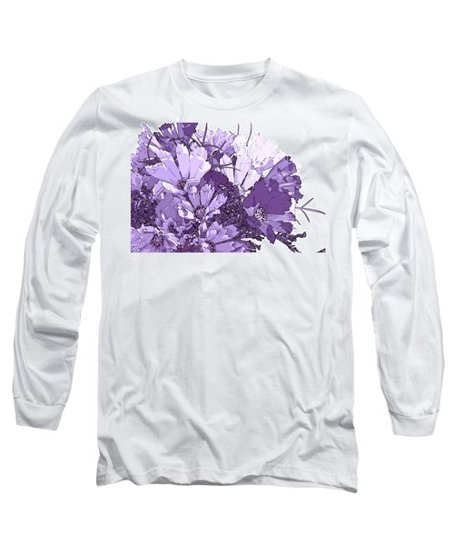 Long Sleeve T-Shirt featuring the photograph Artsy Purple Cosmos by Sandra Foster