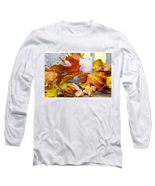 Maple Leaves Candles And Crystal Long Sleeve T-Shirt