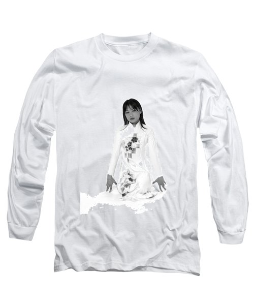 Asian Girl Long Sleeve T-Shirt