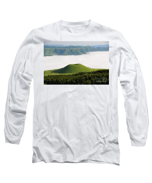 Long Sleeve T-Shirt featuring the photograph Aso Komezuka Sea Of Clouds Cloud Kumamoto Japan by Paul Fearn