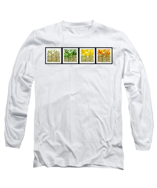 Aspen Colorado Abstract Horizontal 4 In 1 Collection Long Sleeve T-Shirt