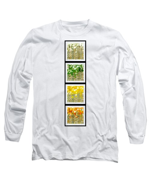 Aspen Colorado Abstract Vertical 4 In 1 Collection Long Sleeve T-Shirt