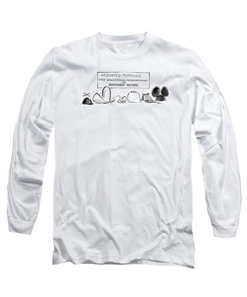 Assorted Toppings The Headgear Collection Long Sleeve T-Shirt by Lee Lorenz