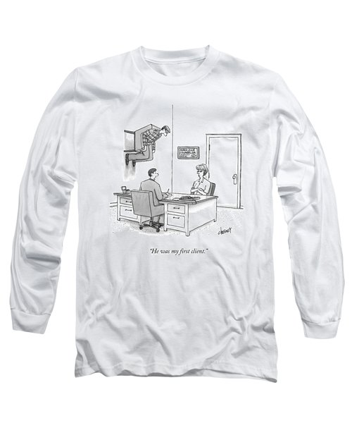 At A Marriage Counselor's Office Long Sleeve T-Shirt