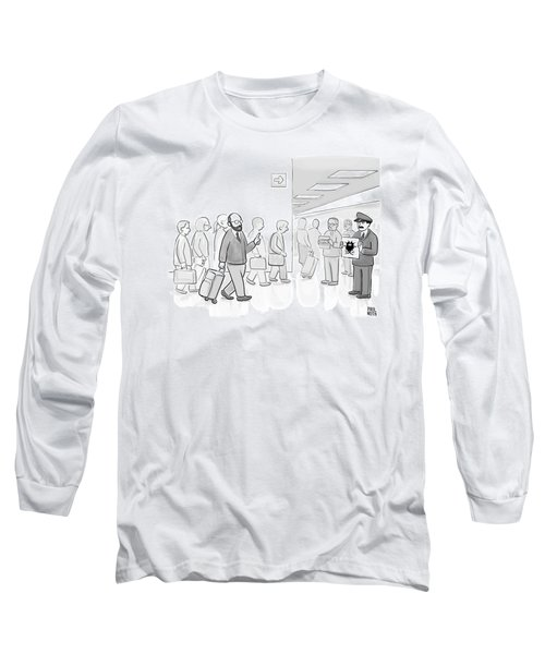 At An Airport Long Sleeve T-Shirt