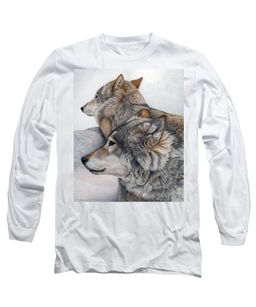 Long Sleeve T-Shirt featuring the painting At Rest But Ever Vigilant by Pat Erickson