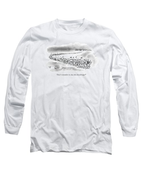 At The Front Of A Marching Army On Horseback Long Sleeve T-Shirt