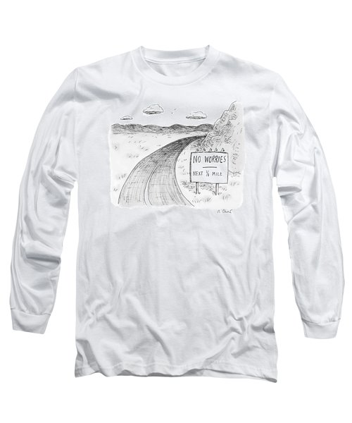 At The Side Of A Stretch Of Rural Road Long Sleeve T-Shirt