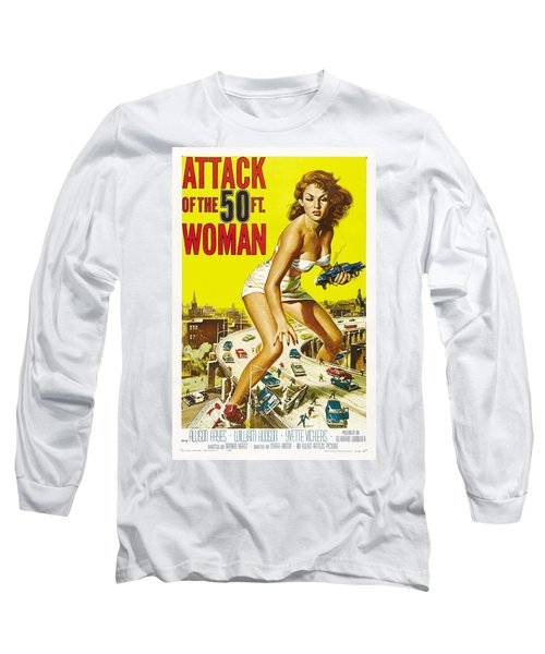 Attack Of The 50 Ft Woman Poster Long Sleeve T-Shirt