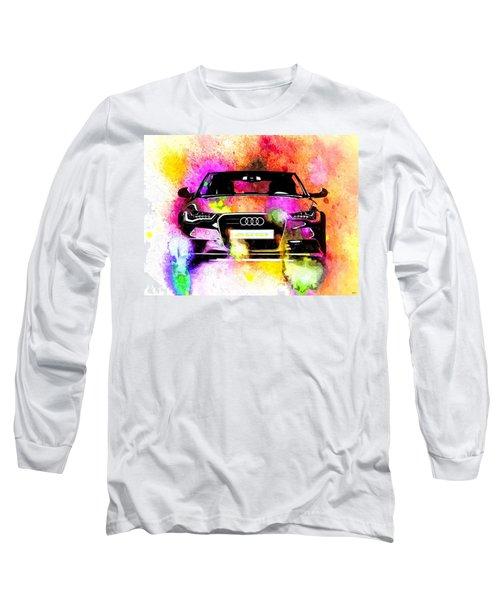 Audi A6 Avant Watercolor Long Sleeve T-Shirt