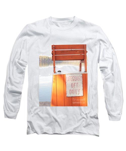 Autumn At White Lake Long Sleeve T-Shirt by Barbara Bardzik
