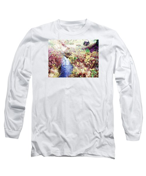 Long Sleeve T-Shirt featuring the photograph Autumn Creek by Vanessa Palomino