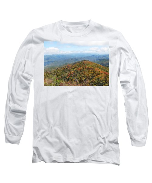 Autumn Great Smoky Mountains Long Sleeve T-Shirt by Melinda Fawver