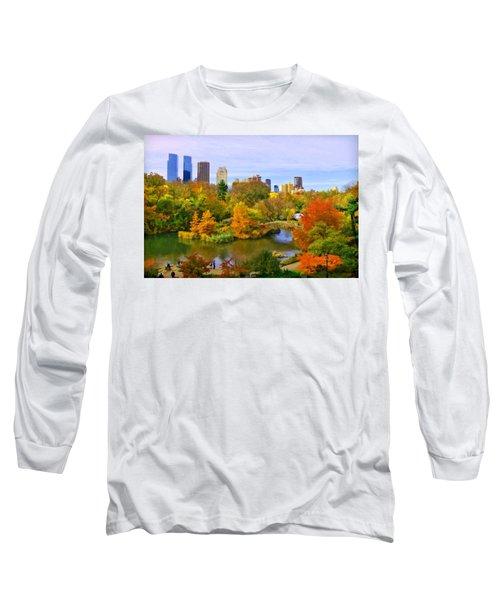 Autumn In Central Park 4 Long Sleeve T-Shirt