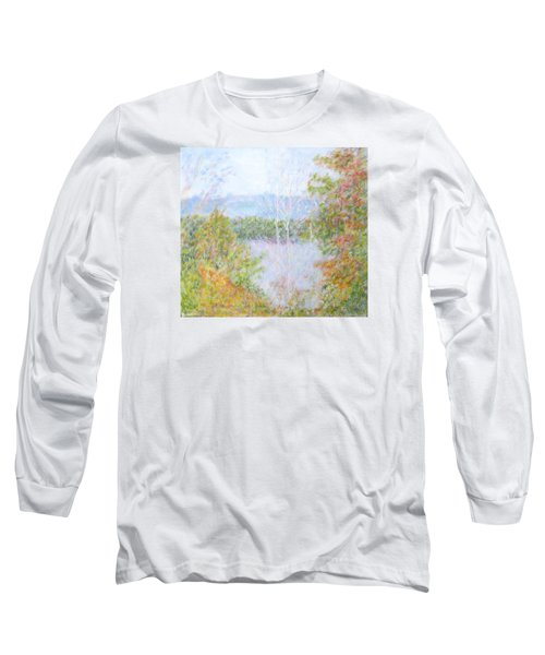 Autumn By The Lake In New Hampshire Long Sleeve T-Shirt