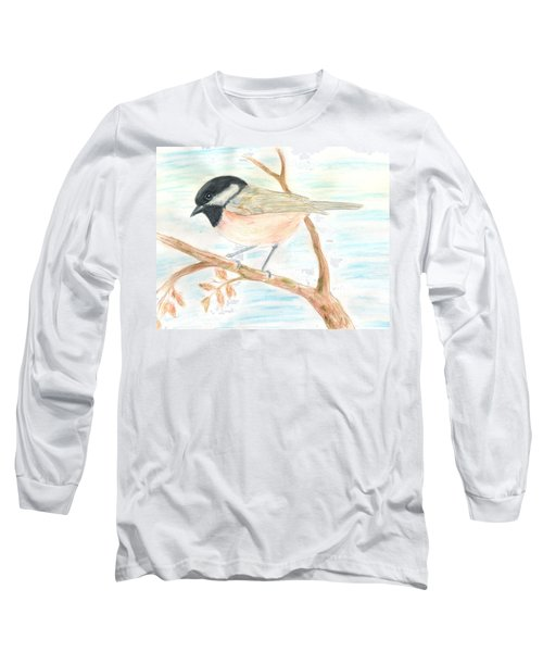 Long Sleeve T-Shirt featuring the painting Autumn Visitor by Stephanie Grant