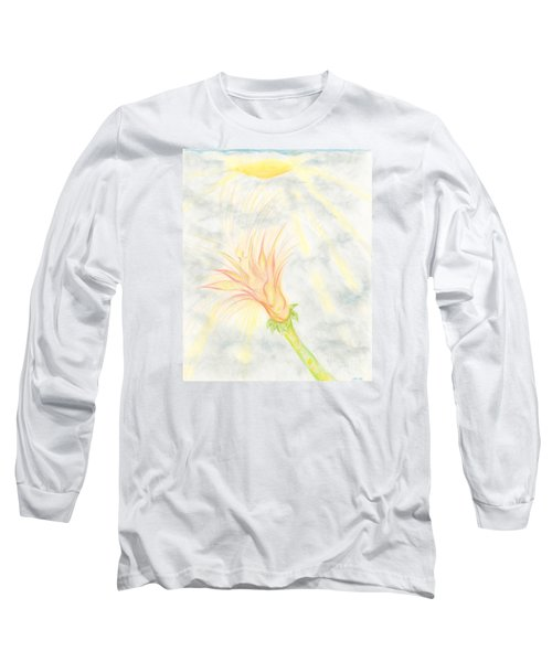 Long Sleeve T-Shirt featuring the drawing Awakening by Kim Sy Ok