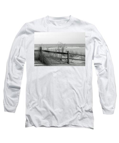 B And W Beach Long Sleeve T-Shirt by Greg Graham